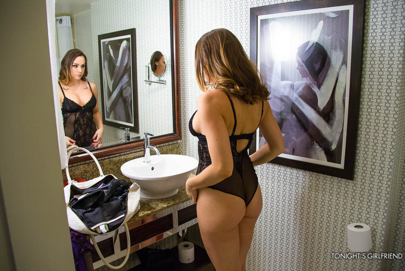 chanelle preston at the mirror